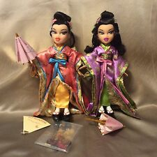 Bratz World Doll Lot (2) May Lin & Tiana Dolls + Accessories Pre-Owned Adult