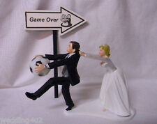 Wedding Party Reception ~Soccer Ball~  Game Over Sign Sports Cake Topper
