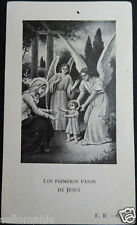 OLD BLESSED THE FIRST STEPS OF JESUS HOLY CARD   SEE MORE IN MY EBAY SHOP CC1332