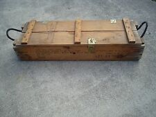 1971 VIETNAM ERA WOODEN MILITARY CRATE FOR TWO 105mm HOWITZER AMMO CARTRIDGES
