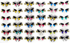 10pcs Wholesale Jewellery lots Change Color Butterfly Silver Plated Mood Rings