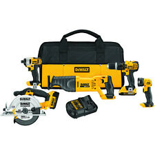 NEW Dewalt DCK520D2 20 Volt MAX Cordless Lithium-Ion 5-Tool Combo Kit