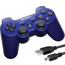 Original Sony PS3 PlayStation 3 Wireless Dualshock 3 Controller Blue Genuine USA