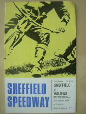 SHEFFIELD v HALIFAX LEAGUE K.O. CUP SEMI FINAL 1969 SPEEDWAY PROGRAMME