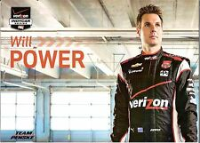 2014 WILL POWER VERIZON INDIANAPOLIS 500 PHOTO CARD POSTCARD INDY CAR vanity