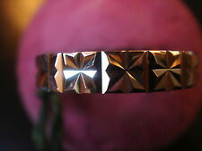 BAGUE ALLIANCE DIAMANTEE 4 MM PLAQUE OR LAMINEE MADE IN FRANCE VINTAGE NEUF T 64