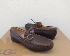 UGG HENDRICKS GRIZZLY BROWN DRIVING MOCCASIN SHOES, MENS US 9/ EUR 42~ NEW