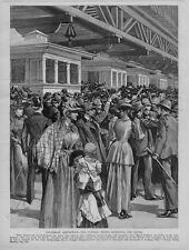 COLUMBIAN EXPOSITION THE SUNDAY CROWD BESIEGING THE GATES CHICAGO WORLDS FAIR