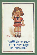 WWI REG MAURICE PC GIRL CRYING - WILLIE WON'T LET ME PLAY WITH HIS PERISCOPE!