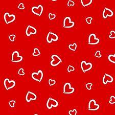 Baumwollstoff 100% Meterware 0,5lfm 1,6m breit Valentin Herz Herzen Weiss Rot