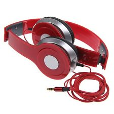 STEREO HEADPHONES DJ STYLE FOLDABLE HEADSET EARPHONE OVER EAR MP3/MP4 IPOD 3.5MM
