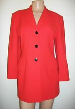 100%CASHMERE LUXUS Escada rot classic Blazer jacket red 40/42 NP1880,- Piacenza