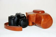 brown  protective leather case bag for Canon Powershot SX60 HS camera SX60HS TAN