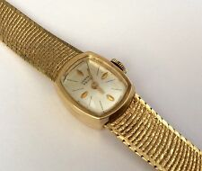 Superb Vintage Heavy ( All Solid Gold ) Ladies 9ct Gold Vertex Revue Wristwatch
