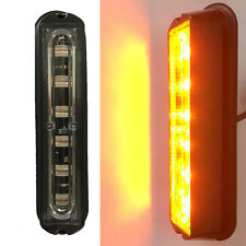 6 LED Car Truck Trailer RV Boat Emergency Light Bar Hazard Strobe Warning Amber