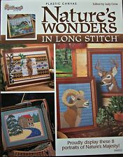 Nature's Wonders in Long Stitch Plastic Canvas Project Pattern Book New OOP