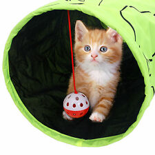 Pet Cat Tunnel With Ball Rabbit Kitten Playing Toy Green Cat Funny Tunnel Toys