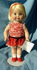 """Chatty Cathy Singing Porcelain Doll Danbury Mint Pull String and Battery NEW 15"""""""