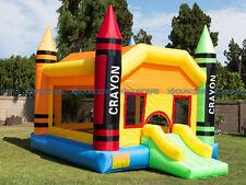 NEW  Crayon Bouncer Super Slide Bounce House Inflatable Jumper Castle