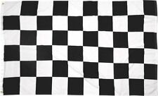 Checkered Checker Black White 2x3 flag banner poly nylon Perma Dye grommets