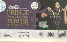 RARE / TICKET BILLET DE CONCERT - PRINCE : LIVE A PARIS ( FRANCE ) 1993