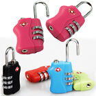 New TSA Resettable Security 3 Digit Combination Travel Suitcase Bag Lock Padlock