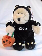 "STARBUCKS BEARISTA BEAR HALLOWEEN CAT PLUSH 10"" 2002 22nd EDITION WITH TAGS"