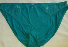 Lane Bryant Cacique Aqua Gem Bikini Panty Sparkle Lace , Clear Gem Trim 14/16