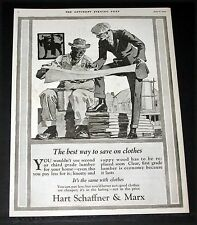 1920 OLD MAGAZINE PRINT AD, HART SCHAFFNER & MARX, BEST WAY TO SAVE ON CLOTHES!