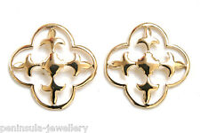 9ct Gold Celtic Studs Earrings Gift Boxed Made in UK