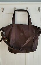 Kipling brown crossbody overnight bag large tote monkey gym duffle
