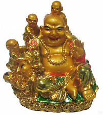 Feng Shui Laughing Buddha With Children - Fengshui Remedies & Product s