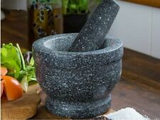 Mrs Beeton 14cm Solid Real Granite Pestle and Mortar Spice Herb Crusher Grinder