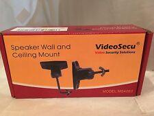 VideoSecu One Pair Black Universal Satellite Speaker Mount Bracket for Wall