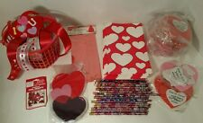 Valentines Day Paper & Plastic Party Bags Pencils Heart Basket Foam Hearts Craft