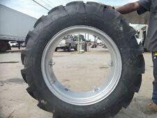 (2) 12.4x28 FORD JUBILEE 2N 8N Tractor Tires w/ Wheels & (2) 400x19 3 rib w/tube