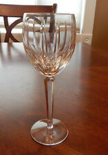 """RARE WATERFORD CRYSTAL BLACKROCK PATTERN WATER GOBLET GLASS (S) 8 1/2"""" TALL MINT"""
