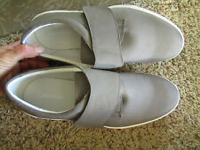 NEW CALVIN KLEIN IMAN GRAY SLIP ON LOAFER  SHOES MENS 9 HOOK & LOOP  FREE SHP