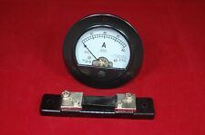 DC 0-40A Round Analog Ammeter Panel AMP Current Meter Dia. 90mm with shunt
