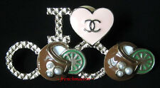 AUTHENTIC CHANEL CC Logo PIN I LOVE Heart COCO BROOCH Pearl Runway 2017 New