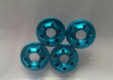 1/10 RC car on road drift realistic wheel nuts blue alloy