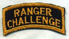 US Army Ranger Challenge Patch Tab Color Cut Edge