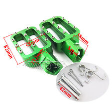 Green CNC Foot pegs Rest For Chinese XR50 CRF50 KLX110 50cc-160cc Pit Dirt Bike