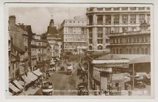 Lancashire postcard - Central Station and Ranelagh Street, Liverpool - RP
