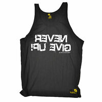SWPS Never Give Up Mirror Training UNISEX Vest body building weights gym whey