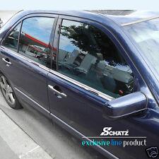 Edelstahl Chrom Fensterleisten, Mercedes Benz E-Klasse W210 Limousine 1995–2002