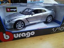 BURAGO 12079S NISSAN Skyline CBA GT-R R35 diecast model car silver 1:18th