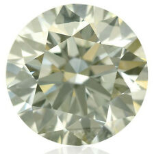 25.52ct VVS1/19.44mmOFF WHITE YELLOW COLOR ROUND LOOSE REAL MOISSANITE 4 RING