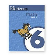 AOP Horizons 6th Grade Homeschooling MATH 6 Lesson Plan Book ~ WORKBOOK 1
