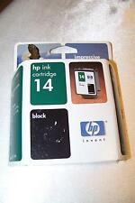 Genuine HP 14 Inkjet Print Cartridge BLACK New Sealed Retail 5/2005